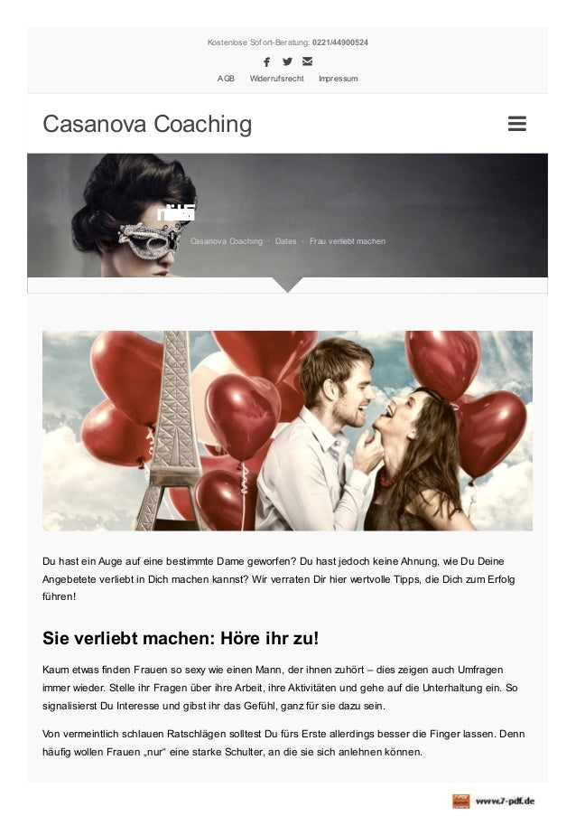 Kostenlose Sofort-Beratung: 0221/44900524   AGB  Widerrufsrecht  Impressum  Casanova Coaching    mle av ca e rr hF bu ...