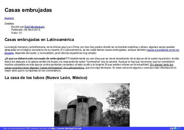Casas embrujadas Imprimir Detalles Escrito por Ruth Montenegro Publicado: 09 Abril 2015 Visto: 10 Casas embrujadas en Lati...