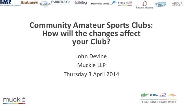Community Amateur Sports Clubs: How will the changes affect your club?