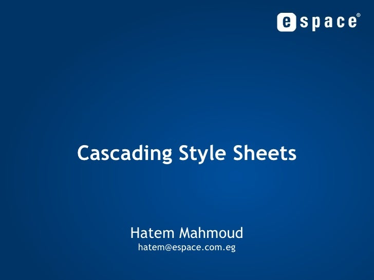 Cascading Style Sheets - Part 01