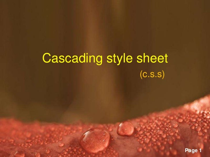 Cascading style sheet                             (c.s.s)      Powerpoint Templates                                       ...