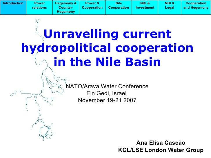 Cascao Arava Hydropolitical Cooperation Nile Basin