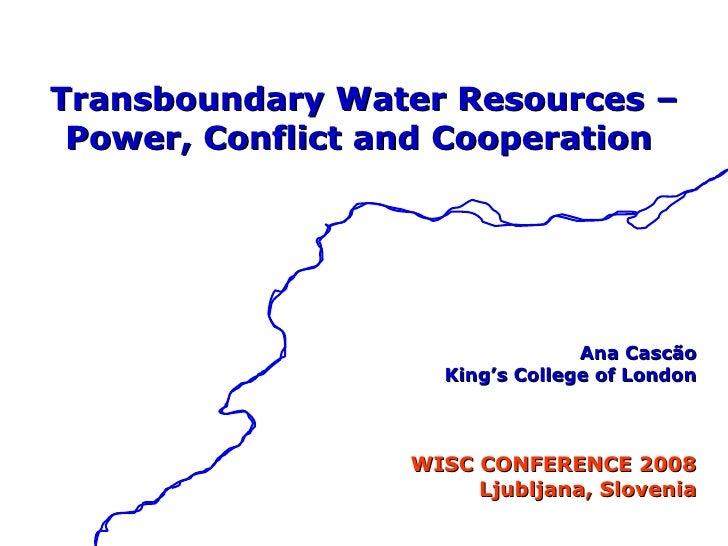 Cascao Slovenia Transboundary Water Resources Power