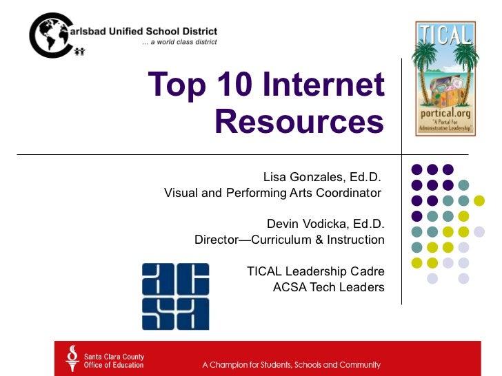 Top Internet Resources
