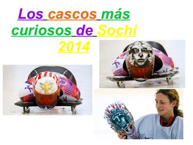 Los cascos más curiosos de Sochi 2014