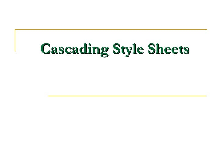 Cascstylesheets