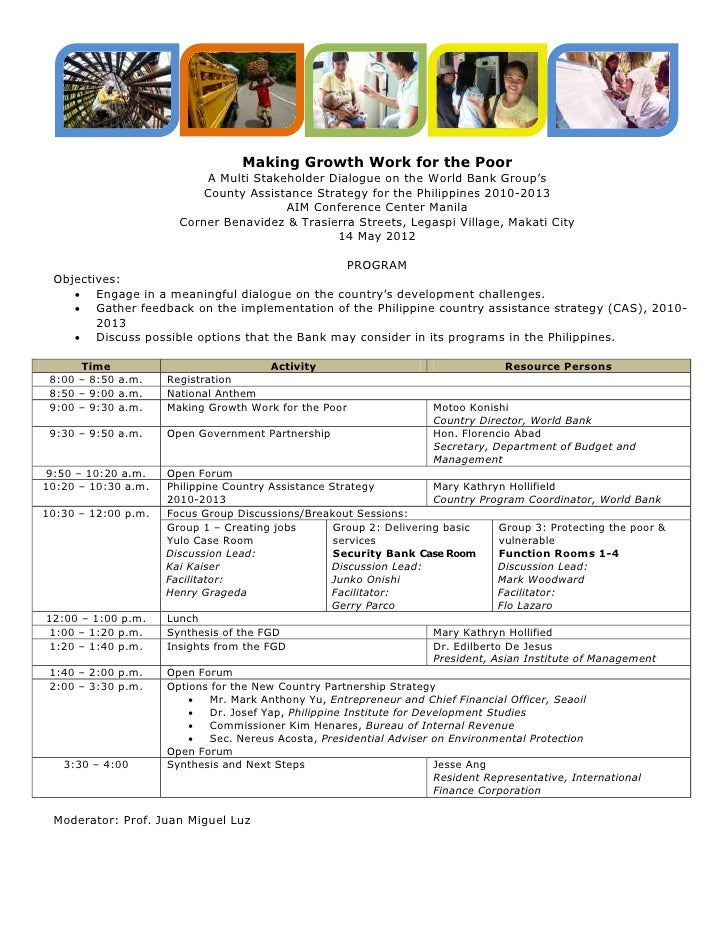 Country Strategy Dialogue Program.14May2012
