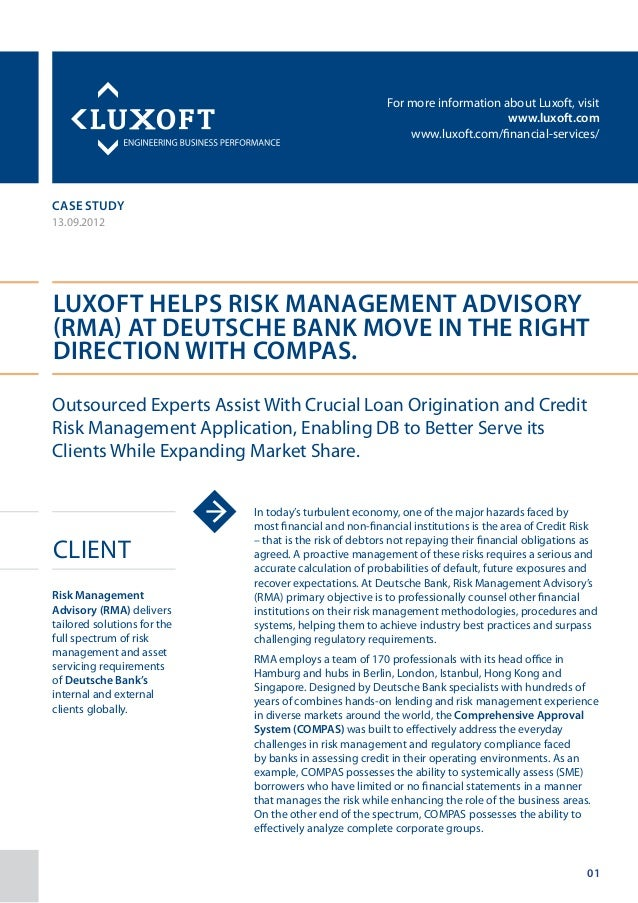 For more information about Luxoft, visitwww.luxoft.comwww.luxoft.com/financial-services/case study13.09.2012Luxoft Helps R...