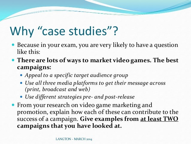 """Why """"case studies""""?  Because in your exam, you are very likely to have a question like this:  There are lots of ways to ..."""