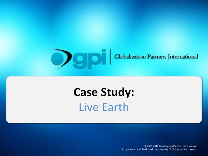 Live Earth: Website and Document Globalization Case Study