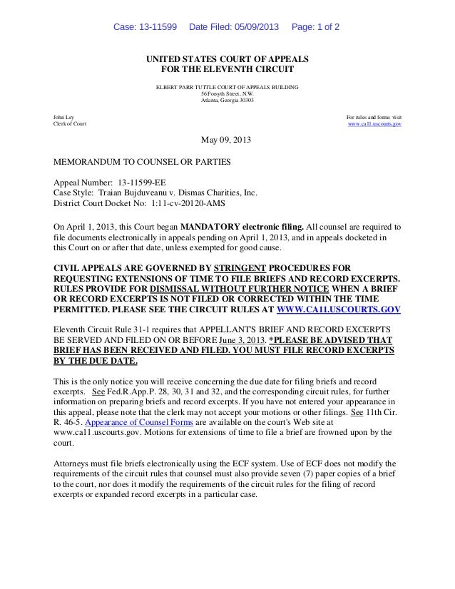 UNITED STATES COURT OF APPEALS FOR THE ELEVENTH CIRCUIT ELBERT PARR TUTTLE COURT OF APPEALS BUILDING 56 Forsyth Street, N....