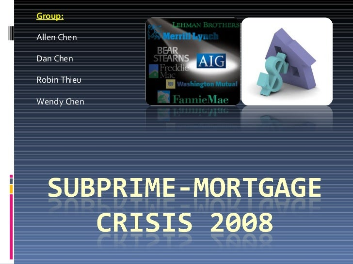sub prime mortgage crisis what caused The subprime mortgage crisis: underwriting standards, loan modifications and securitization laurence wilse-samsony february 2010 abstract this is a survey of some.