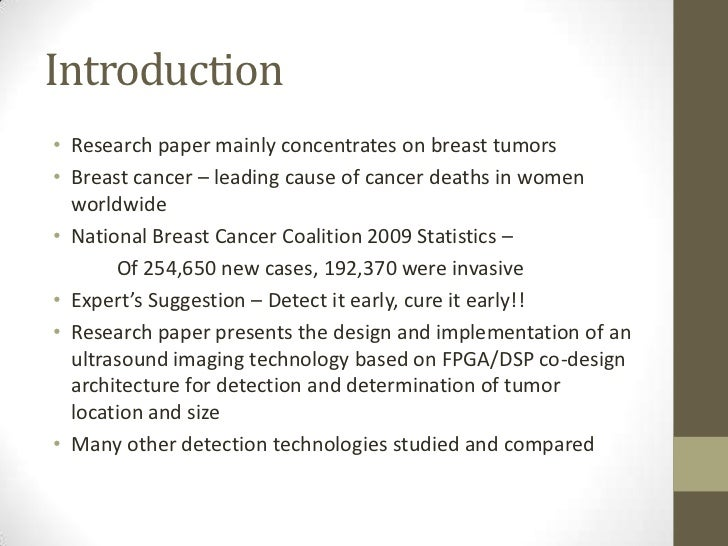 Thesis Statement About Cancer