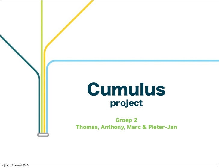 Cumulus                                     project                                      Groep 2                          ...