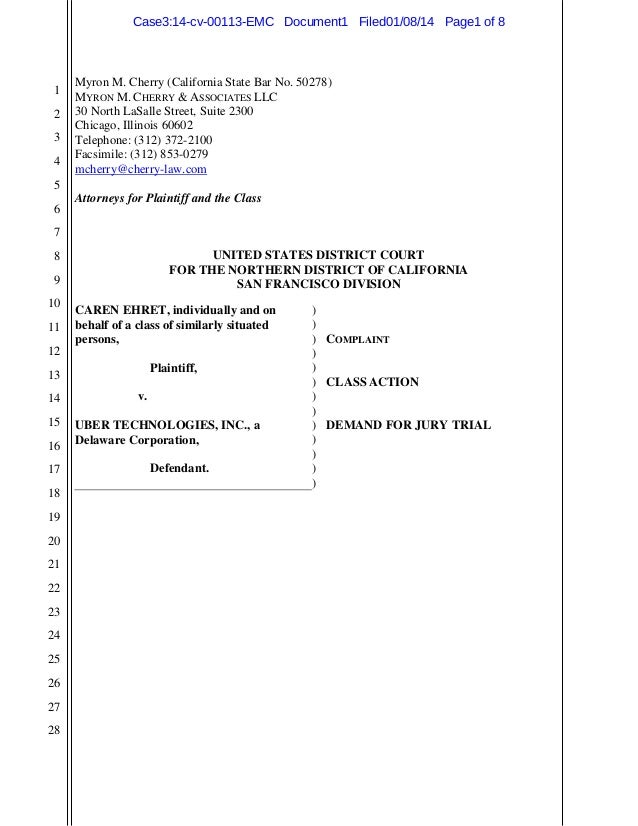 Uber Lawsuit Documents: Case7 b-caren-ehret-v-uber-tips