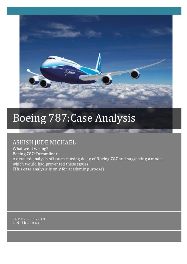boeing case study Executive summary the purpose of this report is to analyse the problems and issues faced by the boeing company over history and provide a strategic plan for its.