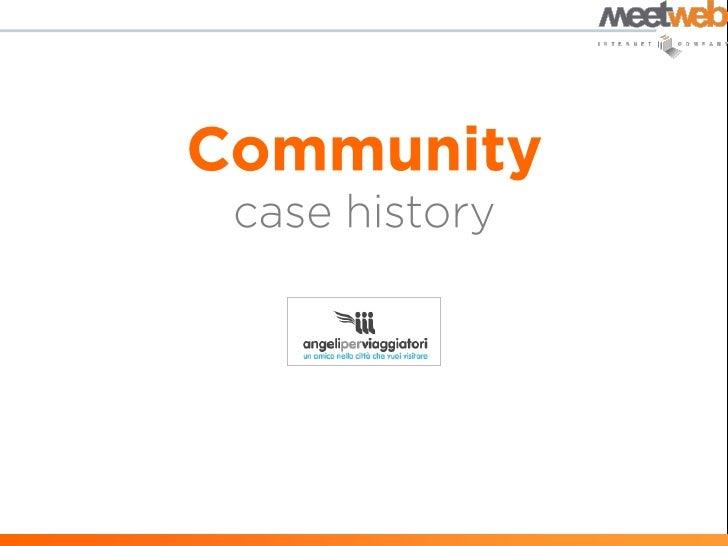 Case history community | Angeli per Viaggiatori