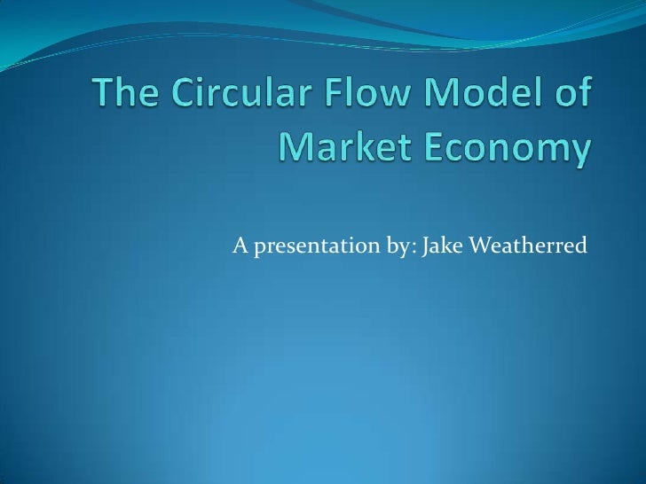 The Circular Flow Model of Market Economy<br />A presentation by: Jake Weatherred<br />