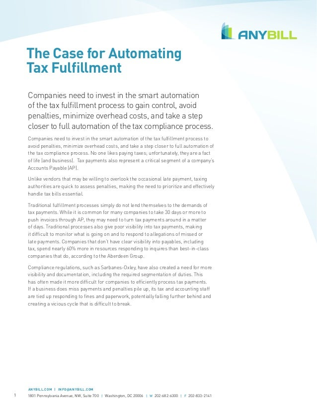 [Whitepaper] The Case for Automating Tax Fulfillment