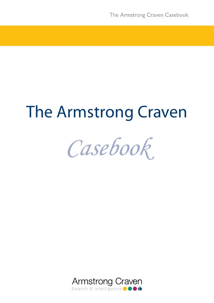 The Armstrong Craven    Casebook     Search & Intelligence
