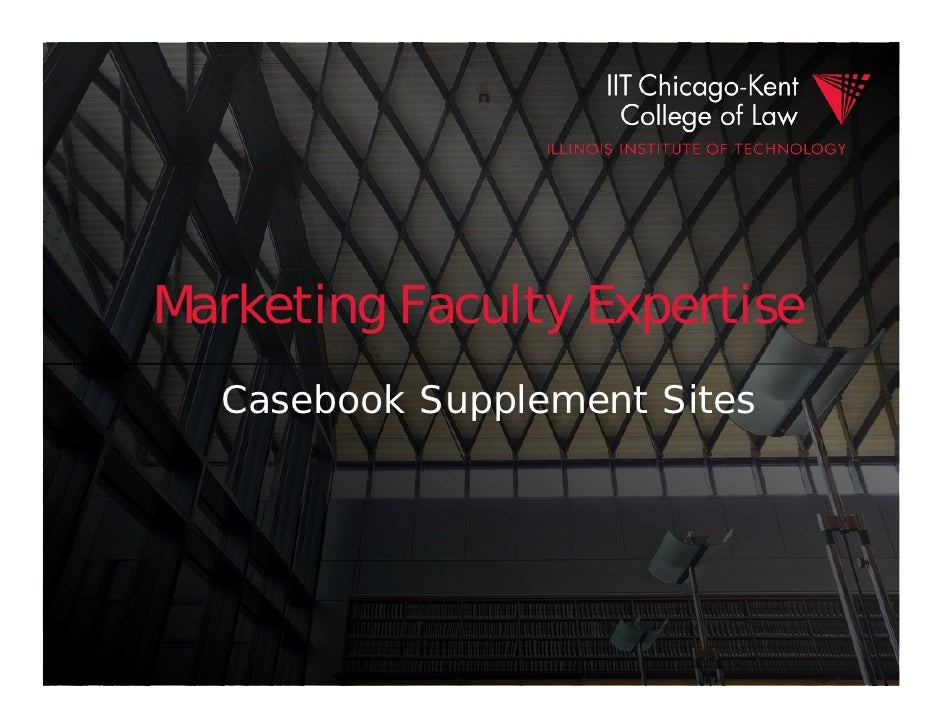 Marketing Faculty Expertise  Casebook Supplement Sites
