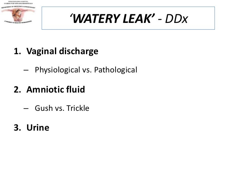 how to know if i am leaking amniotic fluid