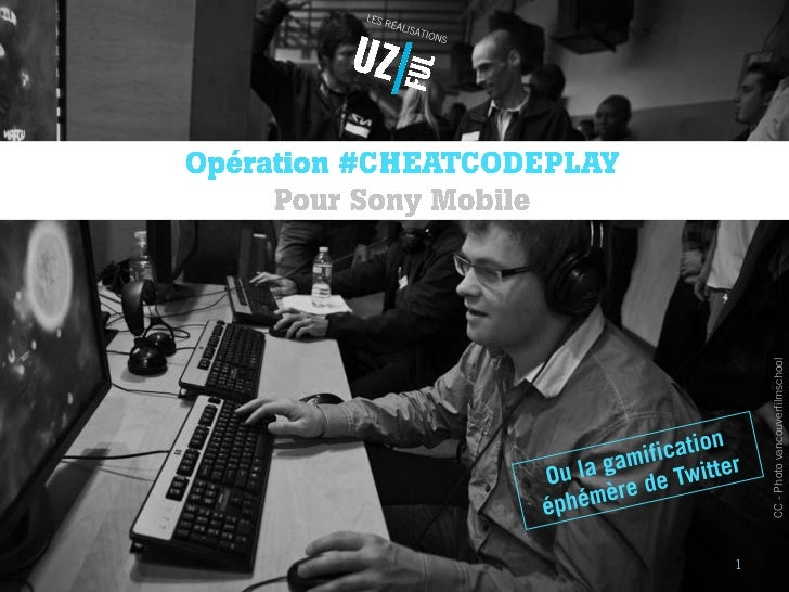 Jeu-concours #CheatCodePlay sur Twitter - Sony Mobile