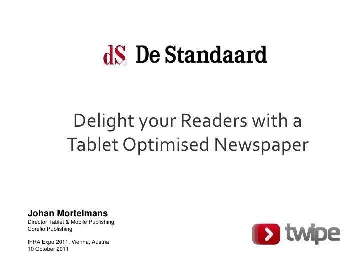 Case De Standaard HD on iPad by Corelio