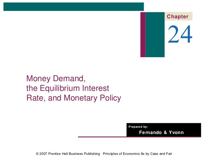 Chapter                                                                                   24Money Demand,the Equilibrium I...