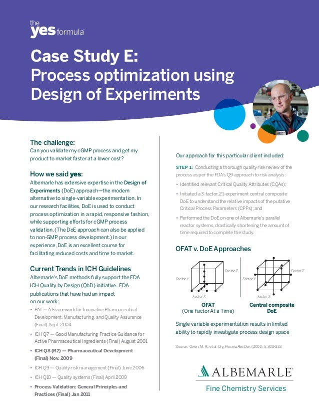 Buy design of experiments case study
