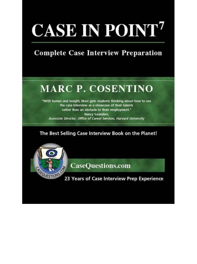 AMAZON REVIEWS Secret to success — consulting case interviews. In graduate school I browsed many books on consulting case ...