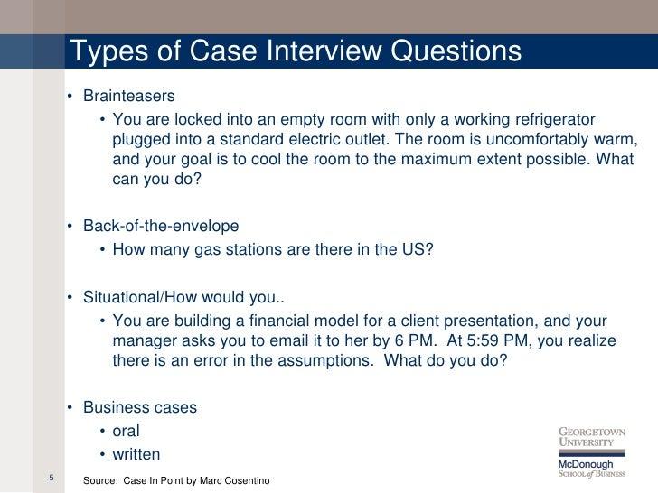 Interview Case Studies Questions Interview Case Studies Questions Interview  Case Studies Questions