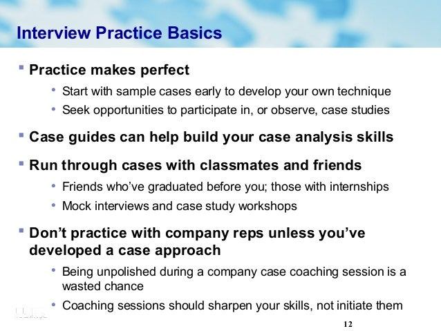 Examples of case studies used in interviews Case Study CBA PL ...
