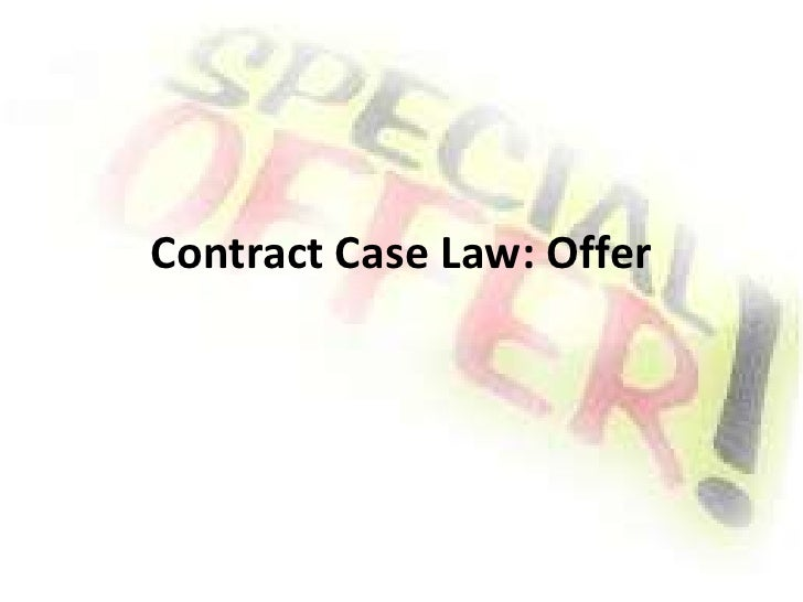 Contract Case Law: Offer