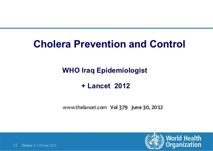 Cholera Prevention and Control                                WHO Iraq Epidemiologist                                     ...