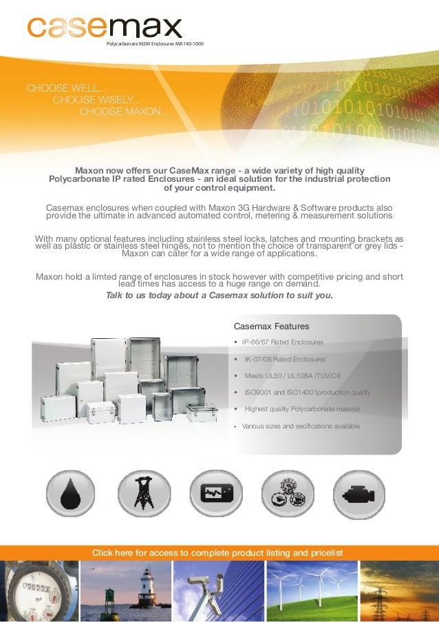 Casemax IP Rated Enclosures - Maxon Solutions