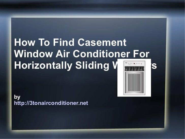 Portable Air Conditioner Vertical Window Casement Window Air Conditioner