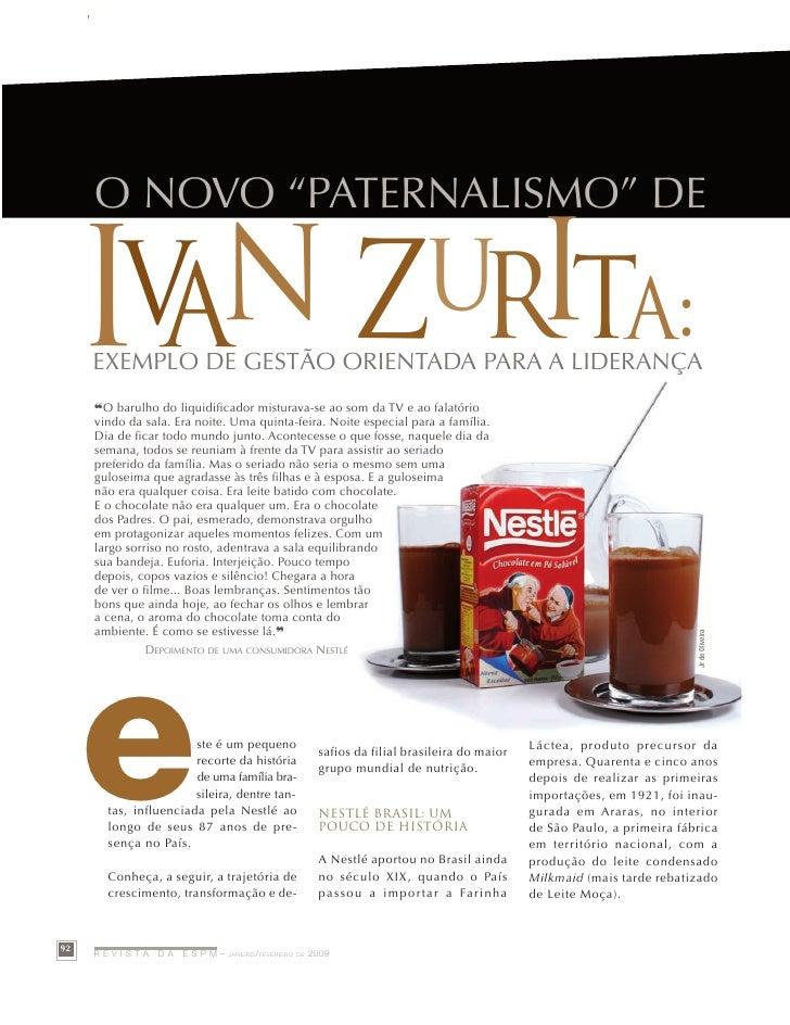 """Case-study          O NOVO """"PATErNAlISMO"""" DE        Ia      I       v n ZUR ta:      ExEMPlO DE gESTãO OrIENTADA PArA A lI..."""