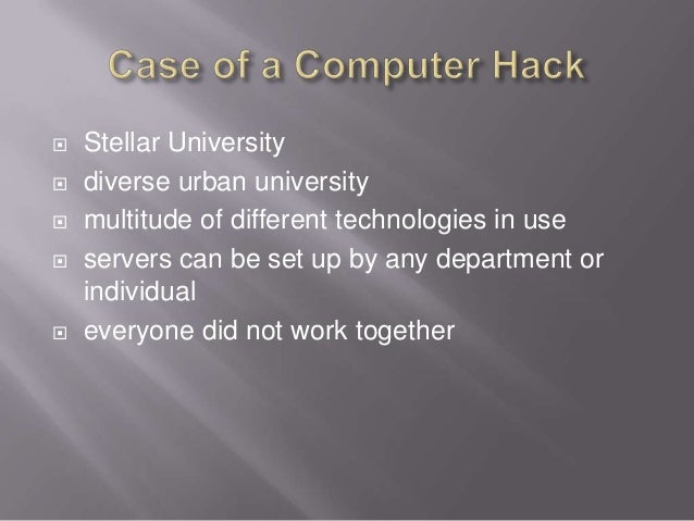  Stellar University  diverse urban university  multitude of different technologies in use  servers can be set up by an...
