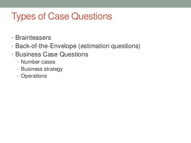 Practice Interview Cases
