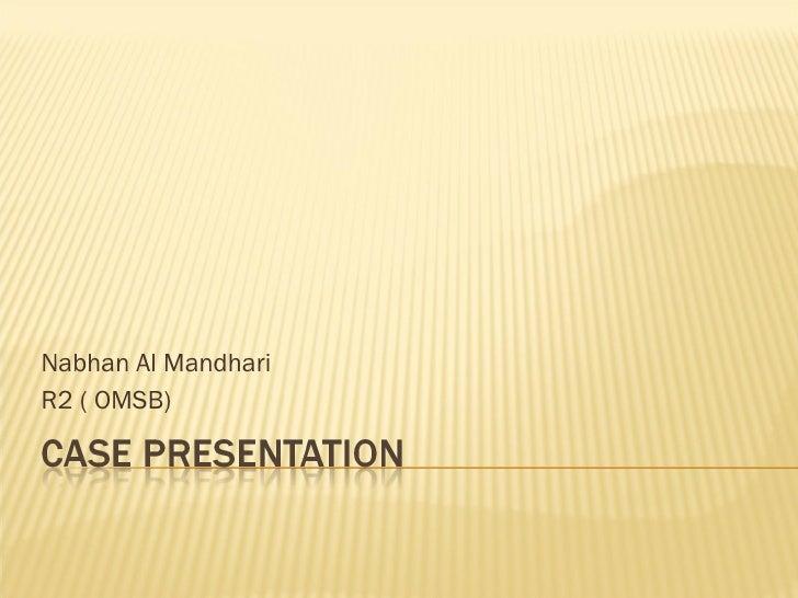 Nabhan Al Mandhari R2 ( OMSB)