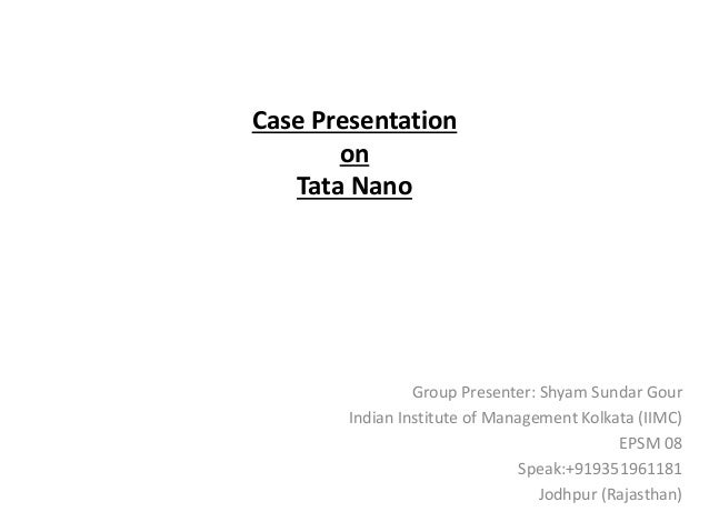 """positioning the tata nano case A brief study on tata nano case  tata nano is a low cost car by the positioning itself as the """"worlds cheapest car"""" with a price tag of ₹ 1,00,000."""