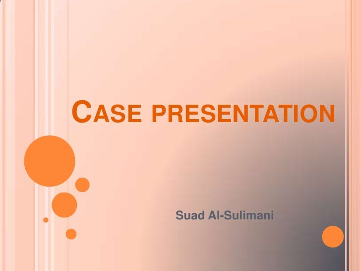 medical case study powerpoint