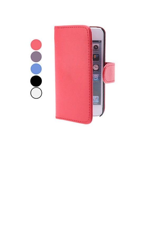 Case em Pele com Ranhura de Cartão e Carteira iPhone 5