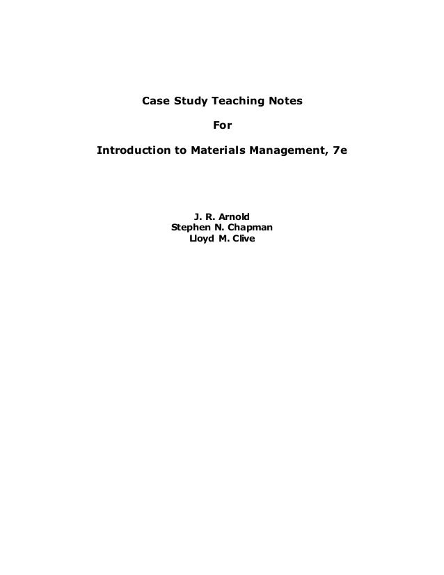 Re-engineering materials management: A case study on an ...