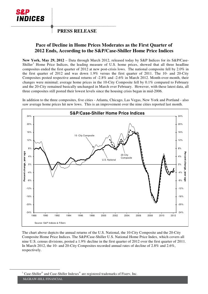 PRESS RELEASE                                      Pace of Decline in Home Prices Moderates as the First Quarter of       ...