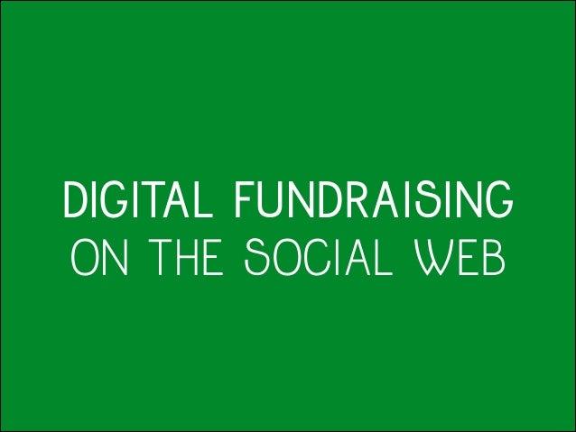 Digital Fundraising on the Social Web