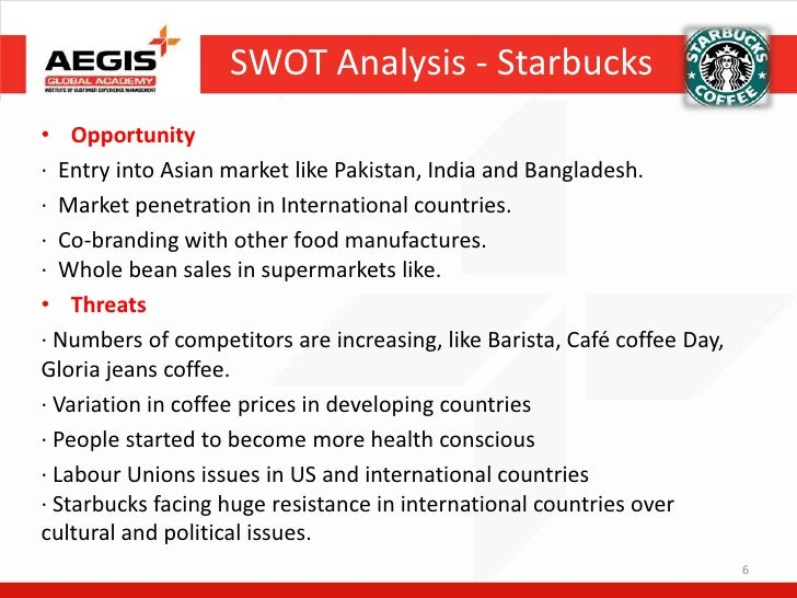 swot analysis of barista Find out about the benefits and limitations of the swot analysis tool.