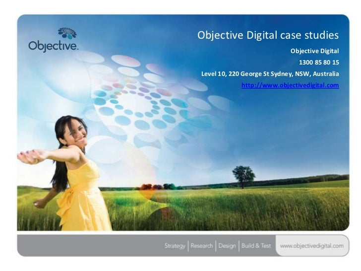 Objective Digital case studies                             Objective Digital                                1300 85 80 15L...