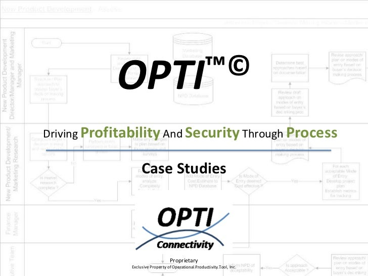 OPTI™©Driving Profitability And Security Through Process                    Case Studies                                  ...